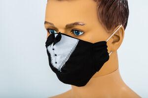 Schwarz Smoking Bräutigam Gesicht Maske Hochzeit Abdeckung Husband zu Werden