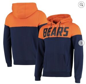 NFL CHICAGO BEARS CUT AND SEW OTH HOODIE - NAVY - MENS Size S RRP£55 {B13}