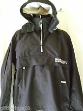 "NEW£70 SUPERDRY BLACK & WHITE HOODED ARCTIC WINDCAGOULE JACKET XLARGE- 42"" CHEST"