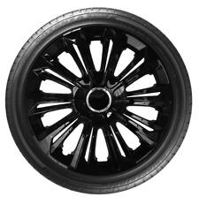 """4 x 14"""" Wheel Covers Hub Caps 14 Inch Wheel Trims Trim ABS Plastic Trim StrBLACK"""