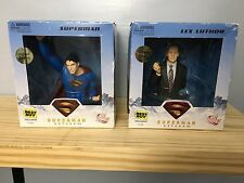 """Superman Returns"" Superman and Lex Luthor Mini Bust Set! BRAND NEW! SEALED!"