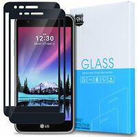 [2-Pack] For LG K20 Plus Shockproof Tempered Glass Screen Protector Black