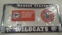 Kansas State Wildcats Metal License Plate Frame  - Officially Licensed Car Truck