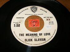 SLICK SLAVIAN - THE MEANING OF LOVE - BLACK GOLD HAIR   / LISTEN /  ROCK POPCORN