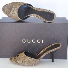 GUCCI New sz 39.5 - 9.5 Designer Horsebit Womens Sandals Mules Slides Shoes