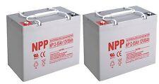 NPP  NP12-55Ah Deep Cycle 12V 55Ah Battery Replace UB12550 Group 22  / (2pcs)