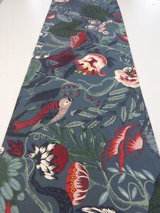 Decorative Table Runner Fern Palm Leaves Birds Butterflies 150cm x 35cm
