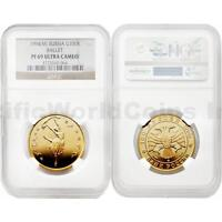 Russia 1994 (M) Ballet 100 Roubles Gold NGC PF69 ULTRA CAMEO