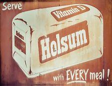"TIN SIGN ""Holsum Bread""  Vintage Food Dessert Art Deco Garage Wall Decor"