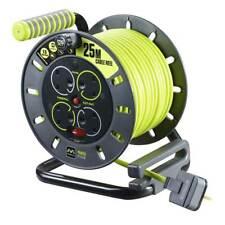 Masterplug Pro XT OMU25134SL-PX 25m 4 Socket Electrical Cable Reel