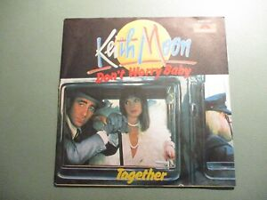 """KEITH MOON (THE WHO) - Don't worry Baby / Together 7"""" 1975 Polydor German PicCvr"""