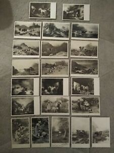 22no. C W Faulkner Postcards Animal Related Early 1900s Posted & Unposted