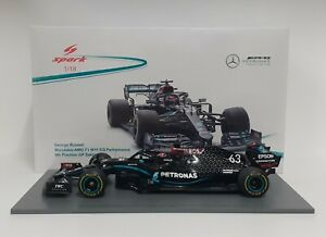 Model Diecast Car F1 Scale 1:18 Spark Mercedes AMG G.Russell 2020 Modeling