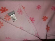 30x30 Carter's Pink Floral Flowers Micro Fleece baby Crib Blanket Lovey