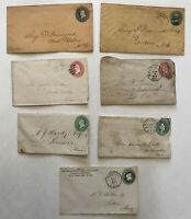 Group of 7 1870s-80s stationery items [y3516]