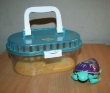 Little Live Pets Purple Green Turtle + Carry Case Tank