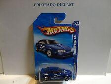 2010 Hot Wheels #105 Blue '92 Ford Mustang w/5 Spoke Wheels