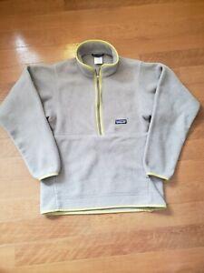 Patagonia Synchilla Fleece Pullover Size Men's XS Gray Zip