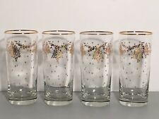 Lenox Eternal Tree Highball Glasses Set Of 4 Gold New In Box Holiday Christmas