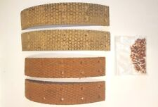 DAIMLER CONQUEST 2.5 LITRE 1953 TO 1956 REAR BRAKE LINING SET WITH RIVETS RJ652