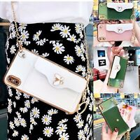 Leather Crossbody Strap Wallet Case Cover for iPhone 12 Pro Max 11 XS 7 8 Plus