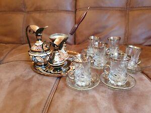 Turkish Glass Tea Set | 6 Cups And Saucers