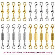 20Pcs Magnetic Necklace Extender Clasps Closures for Bracelet and Jewelry Making
