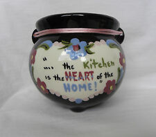 """Vintage California Clemsons Ceramic """"Kitchen is the Heart of Home"""" Wall Pocket"""