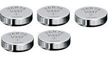 Varta lot de 5 Piles oxyde argent V337   SR416SW  337  1,55V