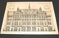 Berlin Offices and Warehouse - Architectural Drawing Print- Circa 1895