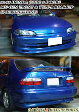 Mu-gen Style Front + TR-Style Rear Lip (Urethane) Fits 92-95 Civic 2dr