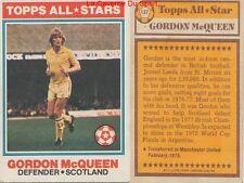 137 GORDON McQUEEN # SCOTLAND ALL STARS CARD PREMIER LEAGUE TOPPS 1978
