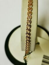 585 or 14 ct Russian Rose Gold Bracelet 1.55 gr ( Love ) The length-16 cm.