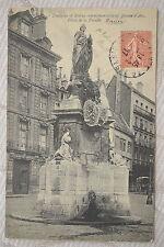 """CPA """" ROUEN - Fontaine et Statue commémorative de Jeanne d'Arc"""