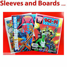 10 2000AD Comic Bags and Boards Resealable/Tape for  Sci Fi Specials TALL Size4