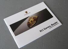 Porsche 911 997 Carrera & 987 Boxster 2005 Garantie De Service d'Entretien Livre