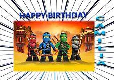 LEGO NINJAGO 1     - Personalised Birthday Greeting Card A5 Friend / son / any