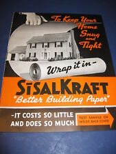 1938 Sisalkraft Copper Building Wrap Paper Catalog Black Workers