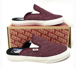 VANS Mule Sf Suede Checkerboard Port Royale Marshmallow Womens US 5 Youth US 3.5