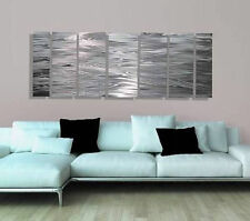 Silver Abstract Modern Metal Wall Sculpture Art Decor - Lost In Translation