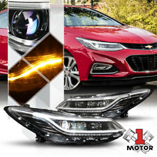 Black Projector HID Headlight [LED DRL+SEQUENTIAL SIGNAL] for 16-19 Chevy Cruze