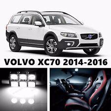 10pcs LED Xenon White Light Interior Package Kit for VOLVO XC70 2014-2016