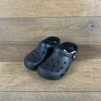 Crocs Classic Coast 204151 Black Clog Unisex Big Kid Size 3 Junior / Youth US
