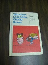 Win a Few, Lose a Few, Charlie Brown , Charles Schulz   1973, 1974 1st Ed. HC