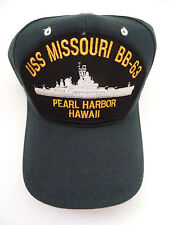 USS Missouri BB 63 Baseball Cap - Dark Green - Pearl Harbor, Hawaii