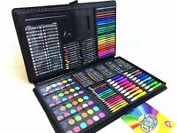 250 Pcs Art Set Childrens/Kids Colouring Drawing Painting Arts & Crafts Case