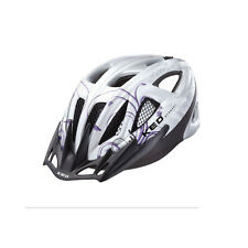 NEU KED VS silver violet Fahrrad Helm 52 - 59 LED-Licht violett Radhelm NEUWARE!