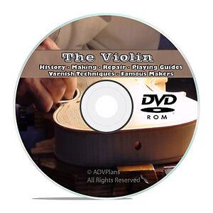 History of the Violin, Making, Repair, How to Restore, Make Varnish Books CD V53
