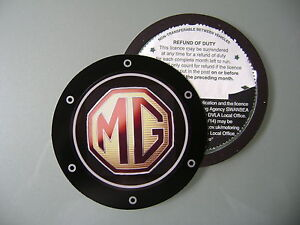 Magnetic Tax disc holder fits any mg ie tf mgf zr zt convertible midget mgb  z