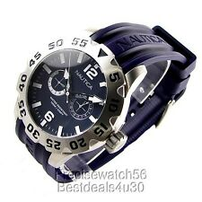 NEW NAUTICA MENS YACHTING SPORT  WATCH N16601G BLUE  RUBBER SILICONE STRAP  2014